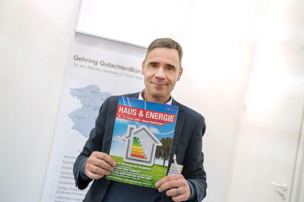 Öffentlichkeitsarbeit: Die Firma Gehring® GutachtenBüro GmbH bei der Haus & Energie Messe 2019 in Sindelfingen, Baden-Württemberg